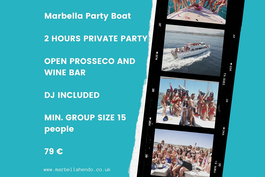 marbella private boat party